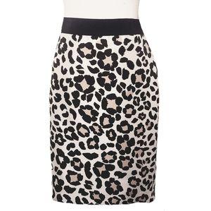 Ann Taylor Spring Leopard Print Pencil Skirt